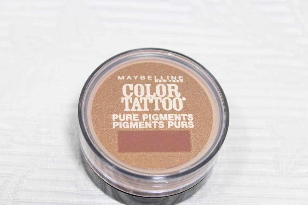 Maybelline Color Tattoo Pure Pigments in Breaking Bronze Review & Swatches graphic
