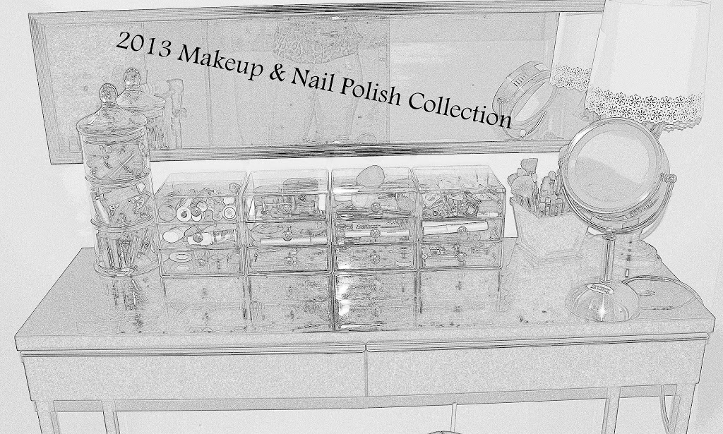 2013 Makeup & Nail Polish Collection and Storage graphic