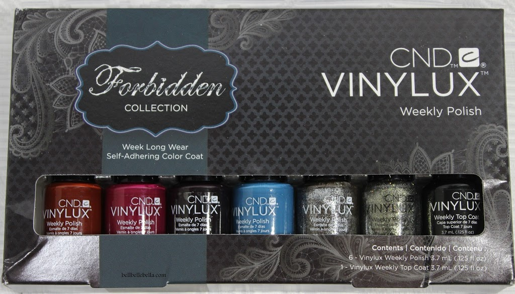 A Week with No Polish Chips?! CND Vinylux Weekly Polish: Forbidden Collection Review graphic