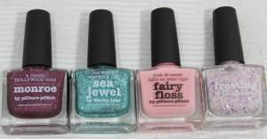 piCture pOlish Monroe, Sea Jewel, Fairy Floss, Frosting