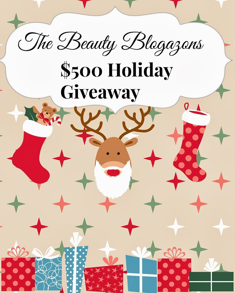 The Beauty Blogazons $500 Holiday Giveaway! graphic