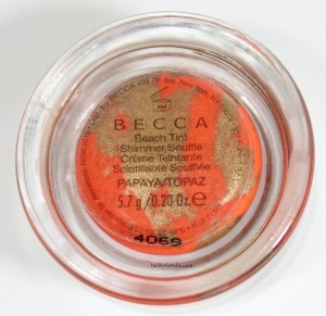 BECCA Beach Tint Shimmer Souffle in Papaya/Topaz Review and Swatches