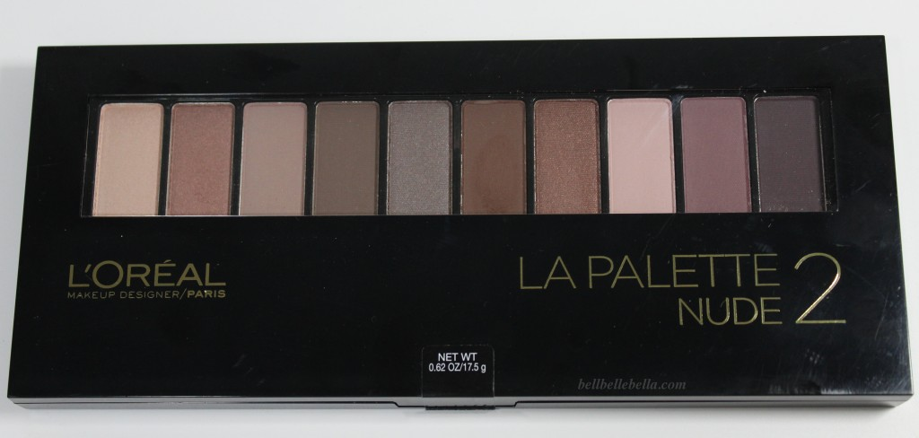 L'Oreal La Palette Nude 1 and 2 Swatches